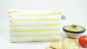 YELLOW & WHITE STRIPES | Snack Bag