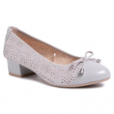 Caprice 22501 light grey court - Kirbys Footwear