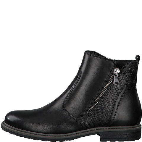 Tamaris 25058 - black leather boot - Kirbys Footwear