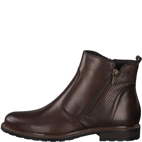 Tamaris 25058 - brown leather boot - Kirbys Footwear