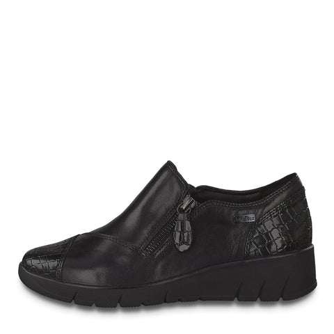 Jana 24600 black leather waterproof - Kirbys Footwear