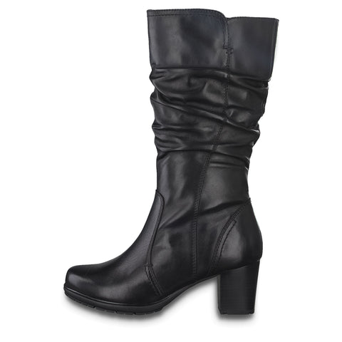 Jana 25322 - black leather boot - Kirbys Footwear