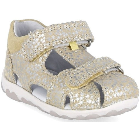 SuperFit closed sandal yellow/silver