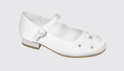 Dubarry Violet white satin
