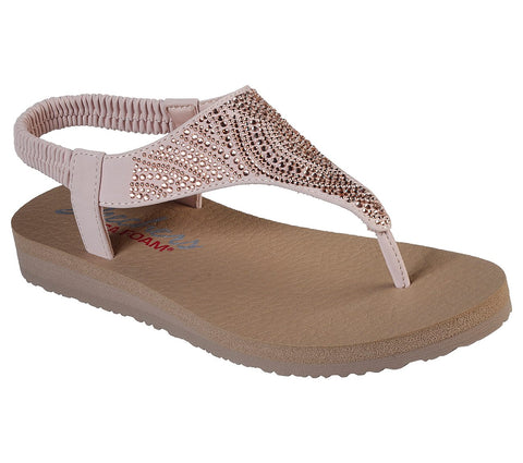 Skechers new moon sandal rose gold