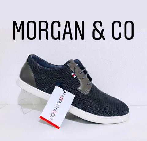 Morgan & co canvas grey - Kirbys Footwear