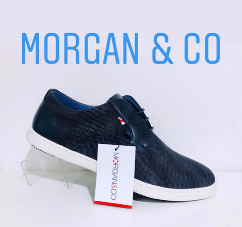 Morgan & co canvas navy - Kirbys Footwear