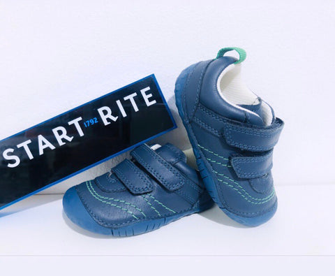 Start-Rite baby Leo pre walker navy - Kirbys Footwear