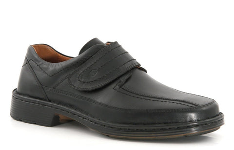 Josef Seibel Bradfjord velcro black leather - wide fit - Kirbys Footwear