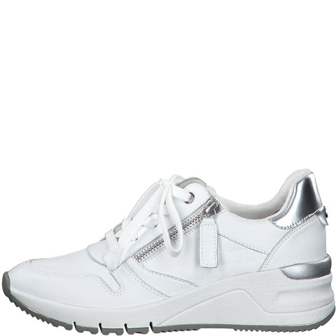 Tamaris 23702 white wedge trainer