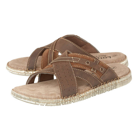 Lotus Claude mule tan - Kirbys Footwear