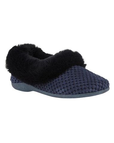 Lotus Nora navy slipper
