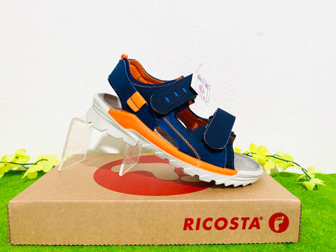 Ricosta Tajo sandal - navy orange