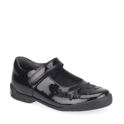 Start rite hopscotch black patent