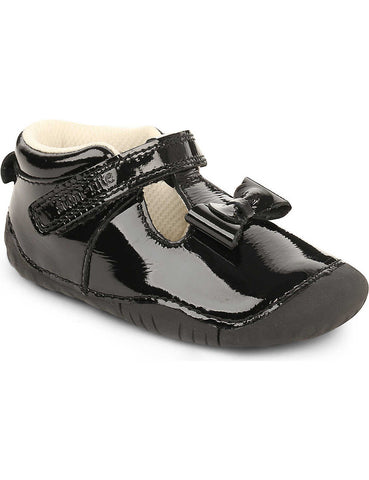 Start rite Amelia black patent pre walker