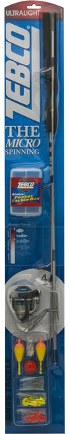 Zebco Micro Spin Combo 4ft 6in 2pc UL W/Tackle Pkg