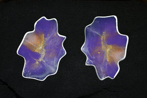 Geode Coaster Set (Purple & Silver)