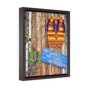 """Irie"" Vertical Framed Premium Gallery Wrap Canvas"