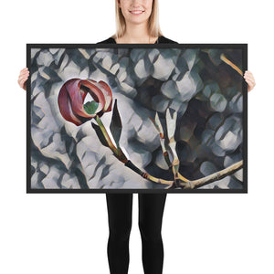 Painted Dogwood Tree Bloom Framed poster