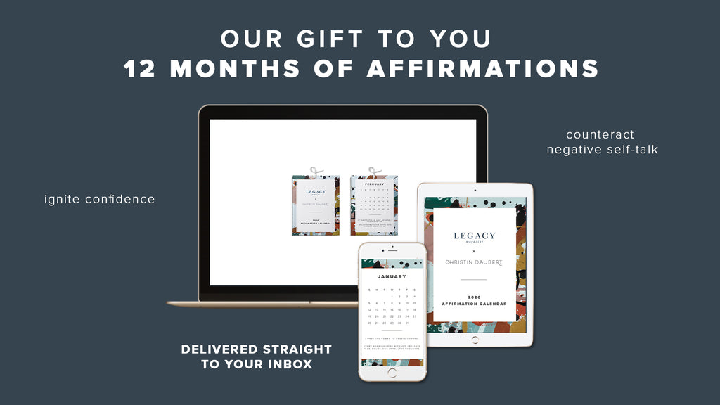 Download Your Free 2020 Affirmation Calendar