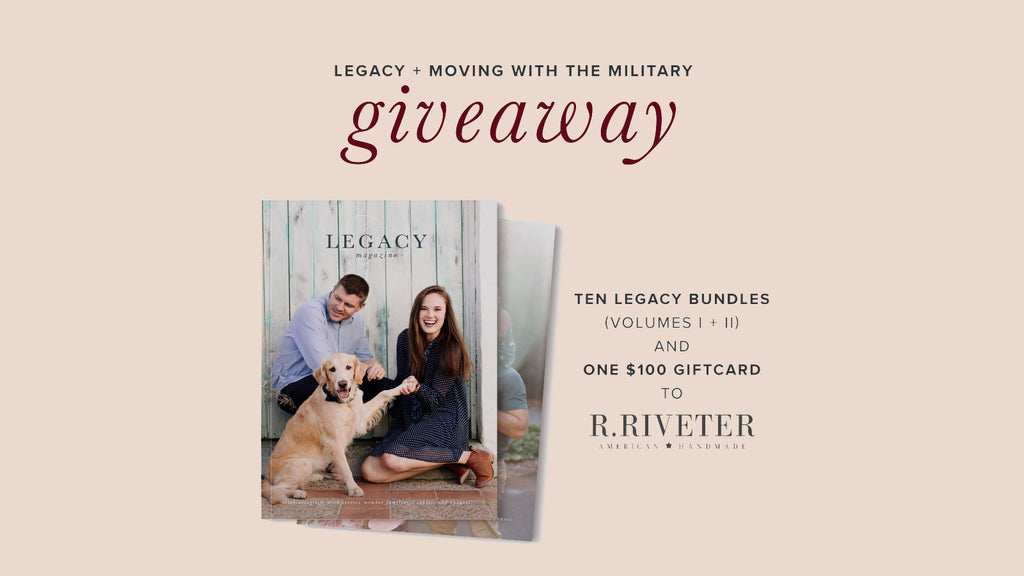 Giveaway with Moving with the Military