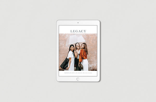 Legacy magazine volume V cover on iPad