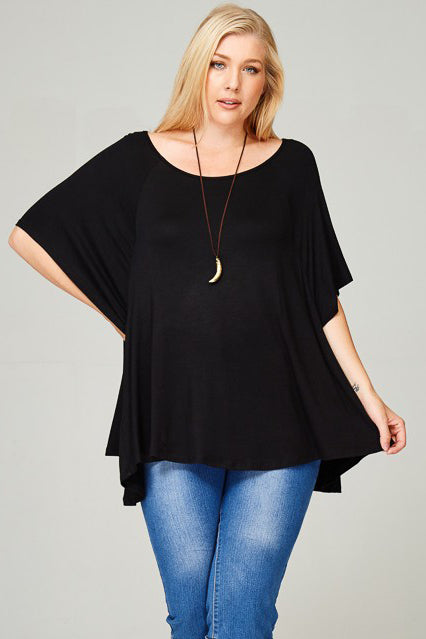 Oversized Flowy Tunic Top