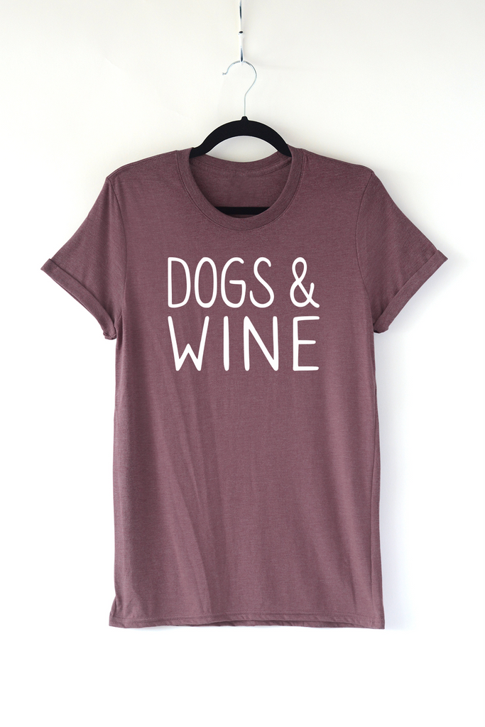 Lucky Franklin Dogs and Wine Adult Triblend Tee in Heather Maroon