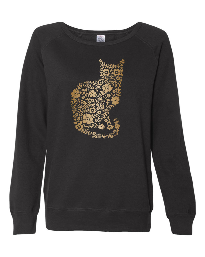 Floral Cat Ladies Sweatshirt