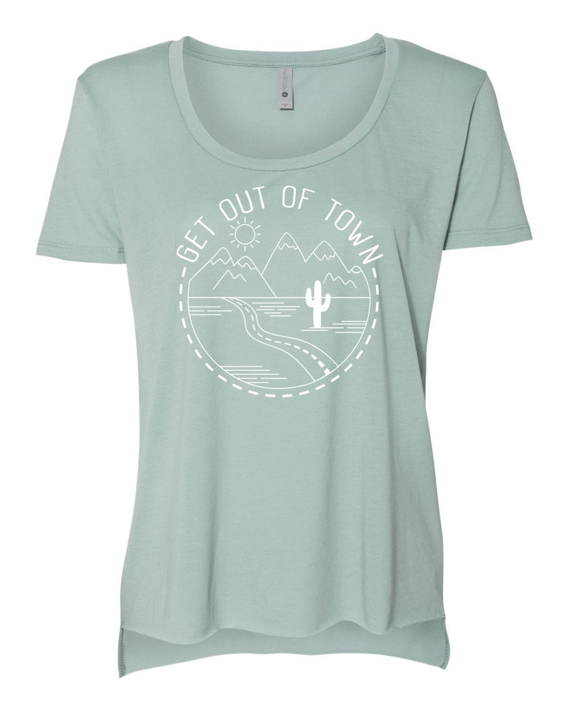 Get Out of Town Scoop Tee