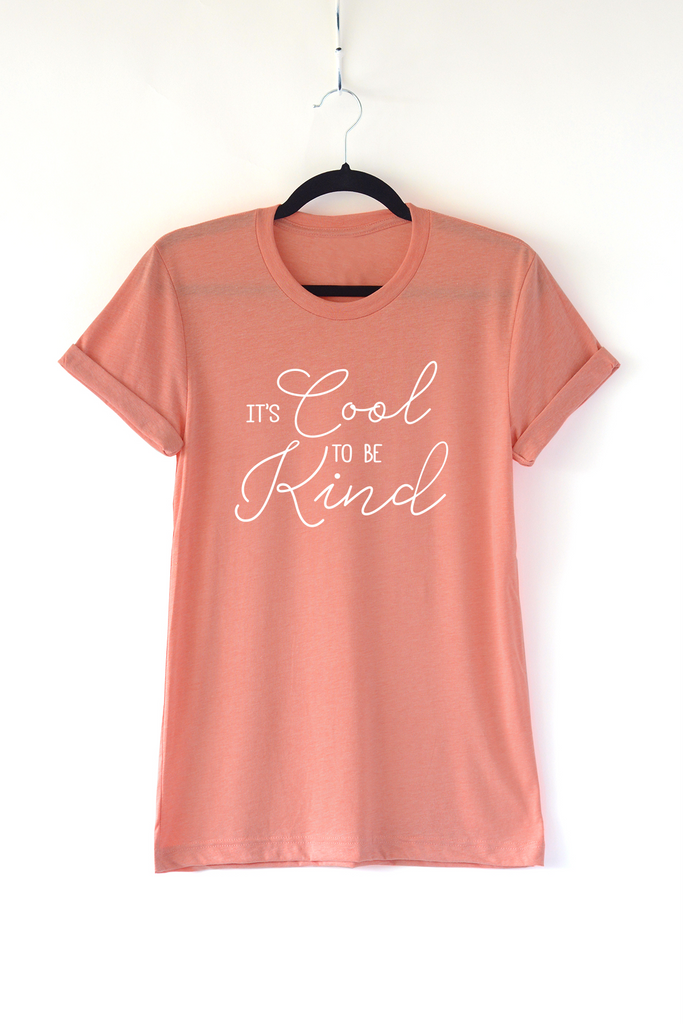 Lucky Franklin Cool to Be Kind Adult Crewneck Tee in Sunset