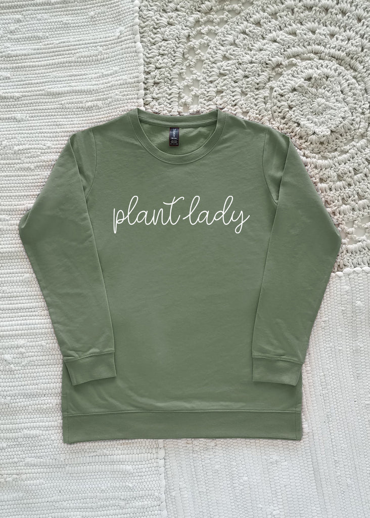Plant Lady Adult Lightweight Sweatshirt 73000 Olive