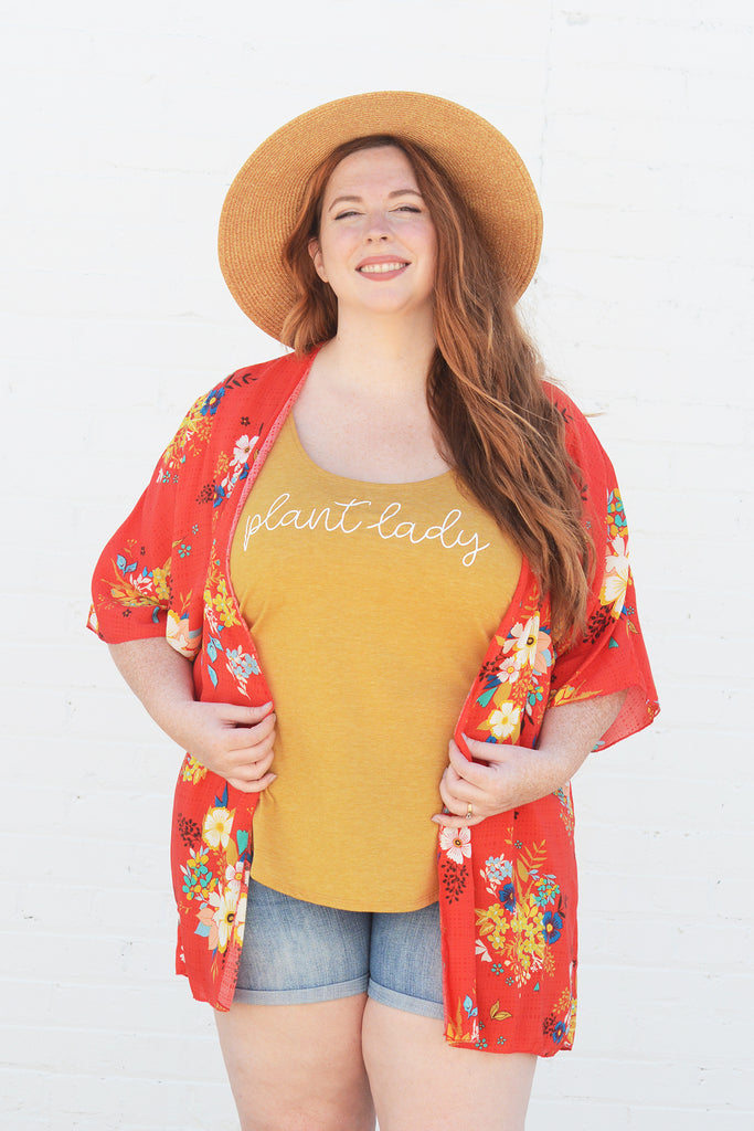 Lucky Franklin Ladies Kimono Summer Floral Plus Size