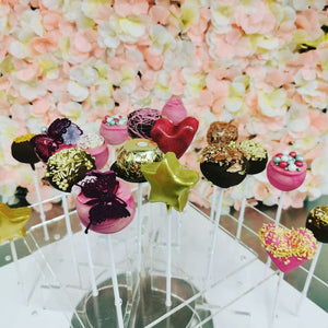 Different designs of cake pops