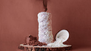 Bounty Chimney Cake. Coconut on the outside, Nutella on the inside and more coconut on the inside on top of the Nutella