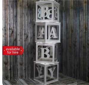 Clear Baby Blocks for hire