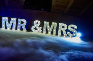 Mr & Mrs Letters for hire