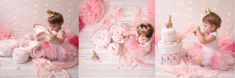 Cake Smash Photography with a Nappy Cake