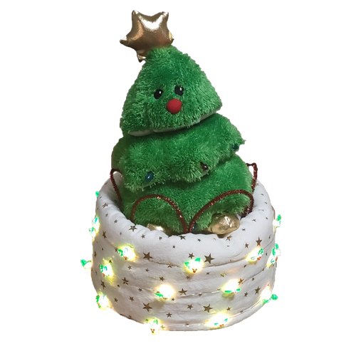 Christmas Tree Animation Nappy Cake - Nappie Cakes