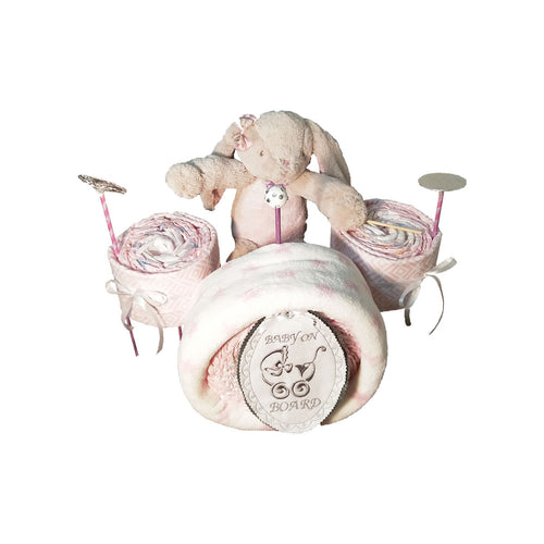 Nappy Cake | Drum Set | Baby Girl - Nappie Cakes
