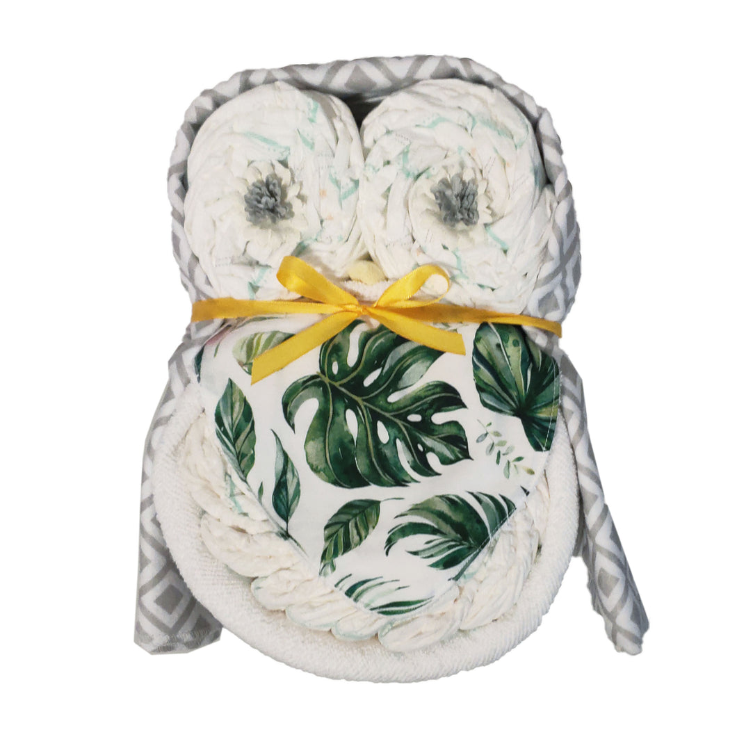 Nappy Cake Owl | Green Leave - Nappie Cakes
