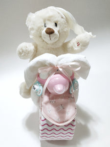 Nappy Cake Bike | Baby Girl | Includes Free Shipping - Nappie Cakes