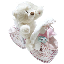 Bike Nappy Cake | Baby Girl - Nappie Cakes