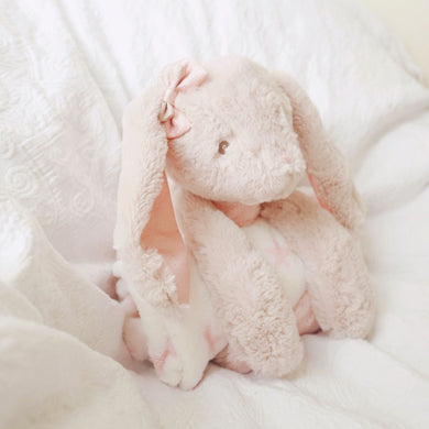 Glitter the bunny with fleece blanket (Easter Special) - Nappie Cakes