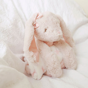 Glitter the bunny with fleece blanket - Nappie Cakes