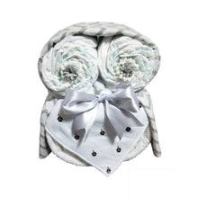Nappy Cake Owl | White with Boats - Nappie Cakes
