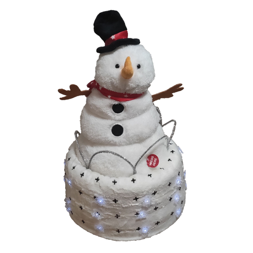 Christmas Singing Snowman Nappy Cake - Nappie Cakes