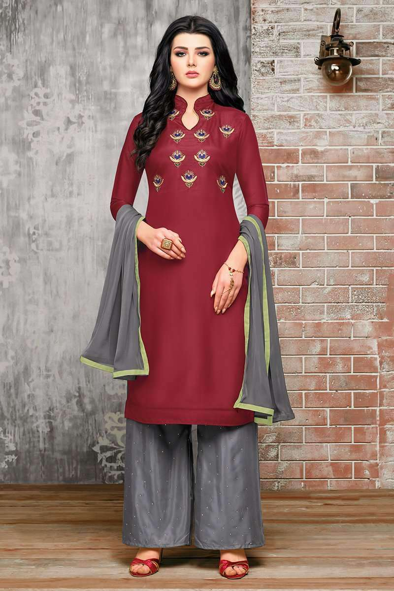 Maroon Salwar Suits