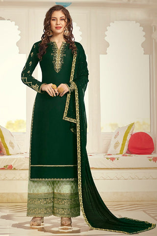 Designer Party Wear Palazzo Style Salwar Suit