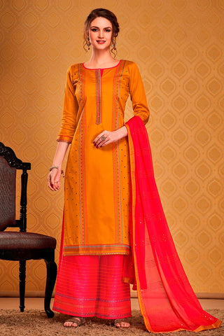 Fancy Traditional Casual Wear Palazzo Suit